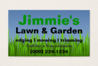 Lawn Care Business Cards And Business Card Templates for Lawn Care Business Cards Templates Free