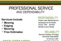 Lawn Care Flyer – Google Search | Lawn Care Flyers, Lawn Intended For Fresh Lawn Care Business Plan Template Free