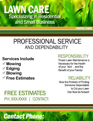 Lawn Care Flyer - Google Search | Lawn Care Flyers, Lawn regarding Gardening Business Cards Templates