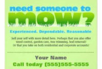 Lawn Care Flyer Template – Cards Design Templates with Best Lawn Care Business Cards Templates Free