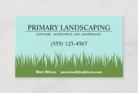 Lawn Care Landscaper Service Grass Business Card – Modern For Lawn Care Business Plan Template Free
