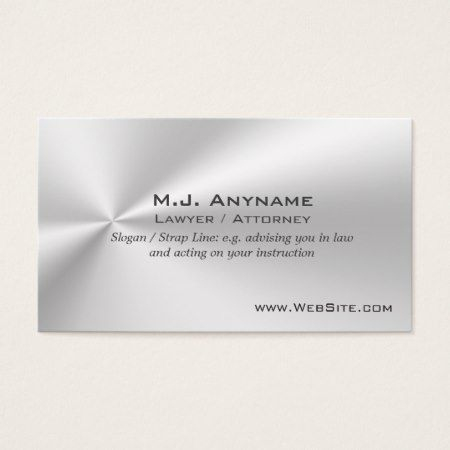 Lawyer / Attorney Luxury Silver-Effect Business Card for Legal Business Cards Templates Free
