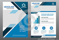 Layout Flyer Template Size A4 Cover Page Blue Tone Vector with Quality Business Plan Cover Page Template
