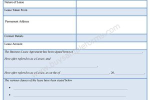 Lease Template Archives - Sample Forms regarding Business Lease Agreement Template