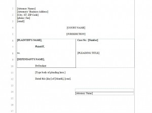 Legal Pleading Paper | Legal Pleading Paper Template throughout Prince2 Business Case Template Word