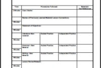 Lesson Plan Template High School Math | Printable Schedule in Middle School Agenda Template