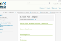 Lesson Plan Template   Oer Commons throughout New High Level Business Plan Template