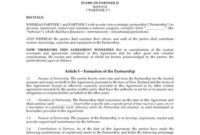 Letter Of Intent For Software Development Partnership inside Letter Of Intent For Business Partnership Template