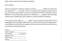 Letter Of Intent Template To Purchase Goods, Formal Letter with regard to Letter Of Intent For Business Partnership Template