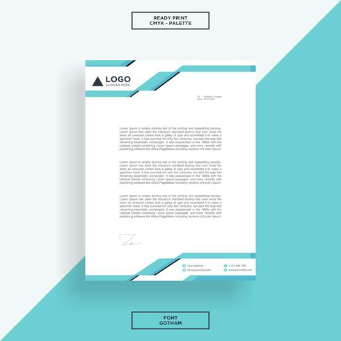 Letterhead Tech Template - Download Free Vectors, Clipart in Business Headed Letter Template