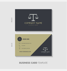 Linear Logo Royalty Free Vector Image - Vectorstock with Legal Business Cards Templates Free