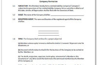 Llc Partnership Agreement Sample – Free Printable Documents within Unique Business Partnership Agreement Template Pdf