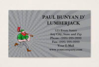 Lumberjack Business Cards And Business Card Templates regarding Paul Allen Business Card Template