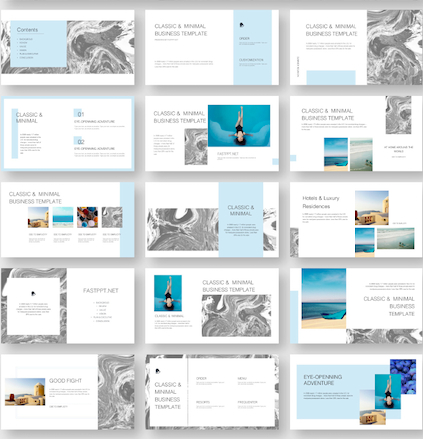 Marble Business Design Presentation Template - Original throughout Best Ppt Templates For Business Presentation Free Download