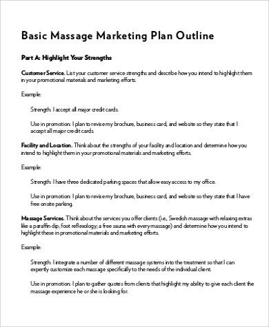 Massage Business Plan Template Free New Sample Marketing inside Template For Writing A Music Business Plan