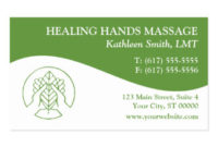 Massage Therapy Business Cards & Templates | Zazzle in Quality Massage Therapy Business Card Templates