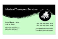 Medical Transportation Business Cards & Templates | Zazzle with regard to Fresh Transport Business Cards Templates Free