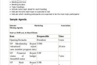 Meeting Agenda Format Sample - 9+ Examples In Pdf regarding Board Of Directors Meeting Agenda Template