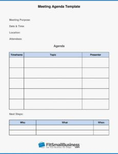 Meeting Agenda Template Word Free within Meeting Agenda Template Word Free