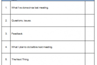 Meeting Agenda within Meeting Agenda Template Word Download