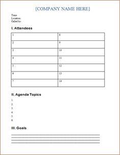 Meeting Agendas Templates | Meeting Agenda Template throughout Blank Meeting Agenda Template