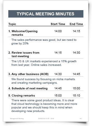 Meeting Minutes Sample with regard to First Board Meeting Agenda Template
