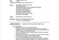 Meeting Minutes Templates within School Board Agenda Template