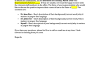 Meeting Request Email Subject – Edit, Print, Fill Out regarding New Business Meeting Request Template