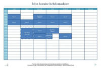 Mettre Au Point Son Planning Hebdomadaire - Illustration inside Planning Session Agenda Template