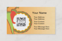 Mexican Food Business Cards & Profile Cards   Zazzle Ca with Fresh Restaurant Business Cards Templates Free