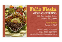 Mexican Restaurant Business Cards, 102 Business Card Templates with Restaurant Business Cards Templates Free