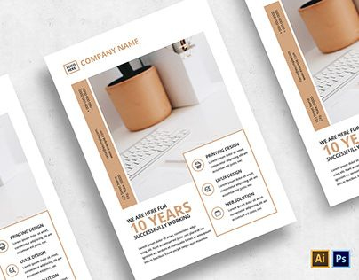 Minimalist Business Flyer-V01 | Business Flyer, Flyer inside Business Card Template Photoshop Cs6