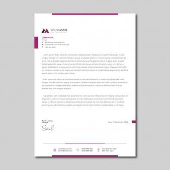 Minimalist Simple Letterhead Template In 2020   Letterhead with Free Online Business Letterhead Templates