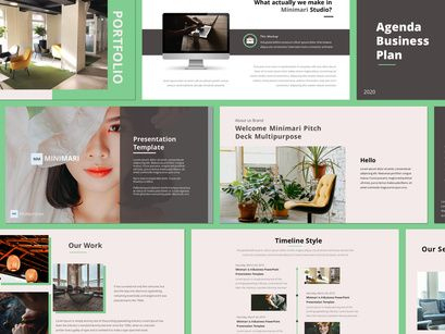 Minimari - Pitch Deck Multipurpose Powerpoint Template In pertaining to Fresh Ecommerce Website Business Plan Template