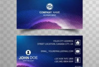 Modern Bright Buisness Card Colorful Template With pertaining to Unique Business Card Templates Free