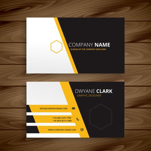 Modern Business Card Template Vector Design Illustration inside Best Business Card Powerpoint Templates Free