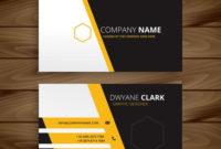 Modern Business Card Template Vector Design Illustration within Unique Business Card Templates Free