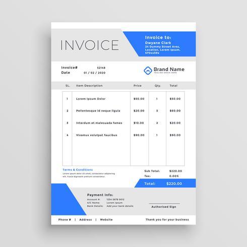 Modern Business Invoice Template Vector Design - Download with Free Business Invoice Template Downloads