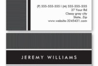 Modern, Dark Gray And Black Personal Profile Or Business with regard to Fresh Generic Business Card Template