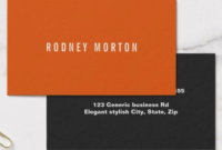 Modern Orange Gray Simple Generic Professional Business throughout Fresh Generic Business Card Template