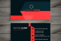 Modern Red Black Business Card Template Vector Design regarding Quality Web Design Business Cards Templates