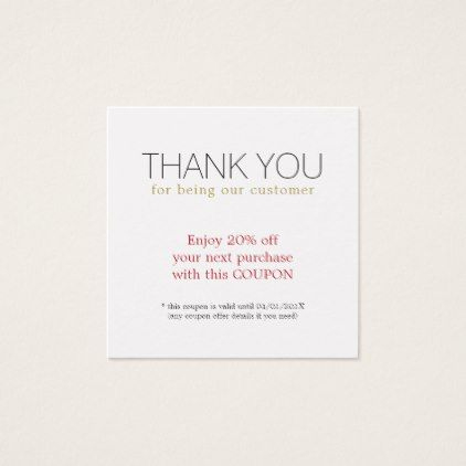 Modern Simple Beauty Salon Thank You Coupon | Zazzle pertaining to Hair Salon Business Card Template