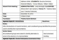 Mom Format Template: 4 Types Download | Organization And for Professional Learning Community Agenda Template