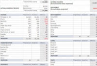 Monthly Budget Planning | Monthly Budget Spreadsheet in Free Small Business Budget Template Excel