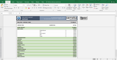 Monthly Budget Worksheet - Free Budget Template In Excel for Free Small Business Budget Template Excel