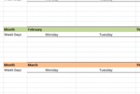 Monthly Social Media Planner – My Excel Templates for New Marketing Plan For Small Business Template