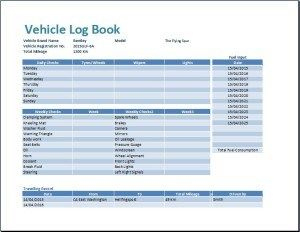 Ms Excel Vehicle Log Book Template | Book Template, Excel for New Business Directory Template Free