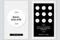 Nail Salon Loyalty Card – Easil with Unique Hair Salon Business Card Template