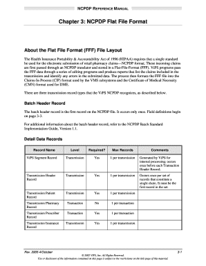 Ncpdp Flat File Format - Fill Online, Printable, Fillable pertaining to New Business Data Dictionary Template