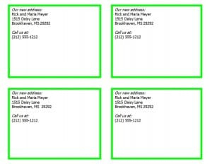 New Address Cards Template - Word Excel Formats intended for Fresh Word Template For Business Cards Free